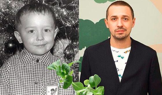 Олег Верещагин в детстве и сейчас