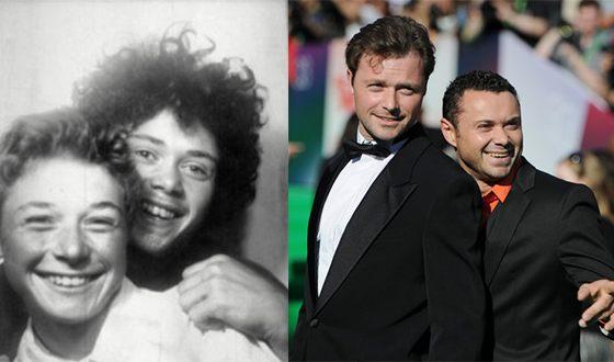 Андрей и Илья Носковы в юности и сейчас