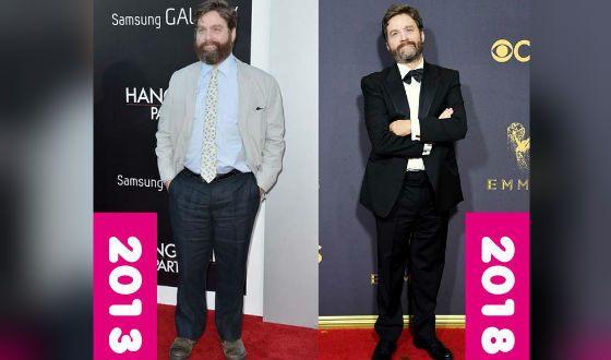 Зак Галифианакис похудел и теперь выглядит как другой человек