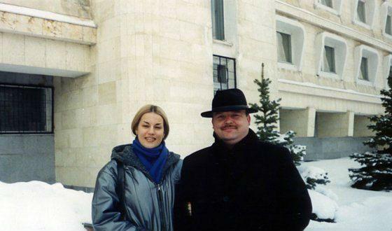 На фото: Михаил Круг и Светлана Тернова, его бэк-вокалистка