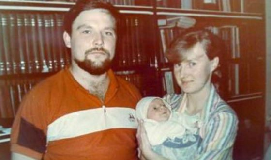 Михаил Круг с первой женой и сыном Дмитрием