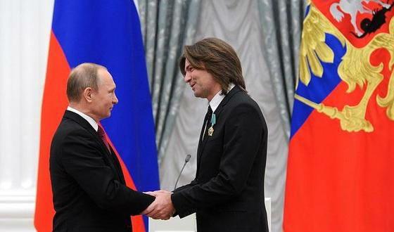 На фото: Дмитрий Маликов и Владимир Путин