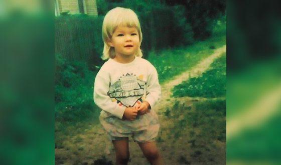 Анна Исаева в детстве
