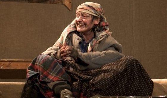 Инга Оболдина на сцене театра в постановке «Сахалинская жена»