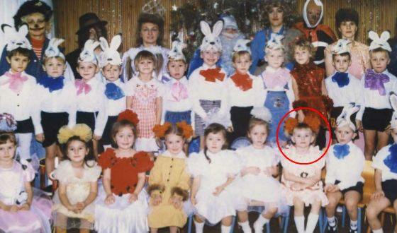 Яна Енжаева в детстве