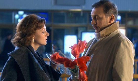 Марина Зудина и Сергей Чонишвили в сериале «Люблю 9 марта!»