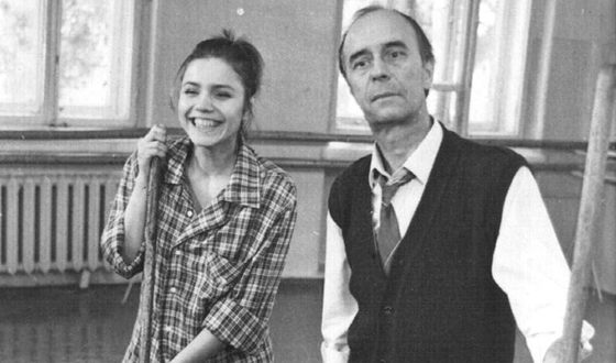 Студентка ГИТИСа Марина Зудина и Олег Борисов