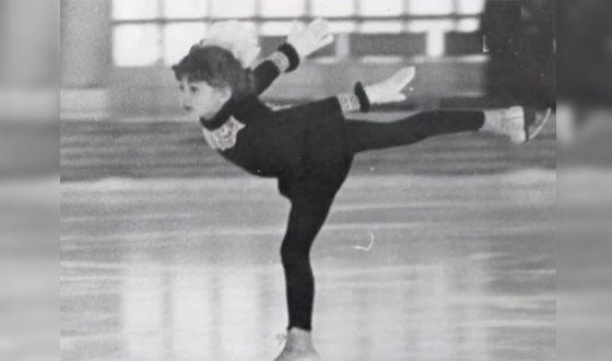 Этери Тутберидзе в детстве на льду