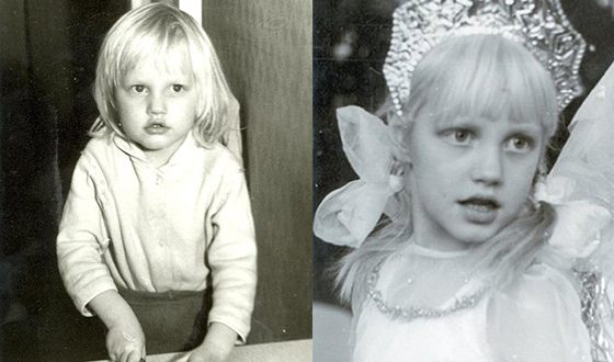 Маша Малиновская в детстве