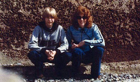 Курт Кобейн с тётей