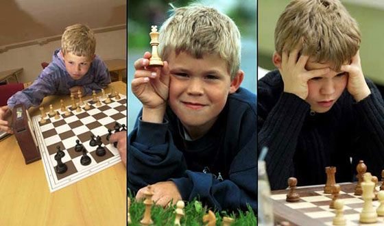 Магнус Карлсен играет в шахматы с 5 лет