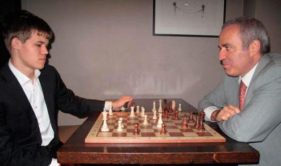 Магнус Карлсен и Гарри Каспаров