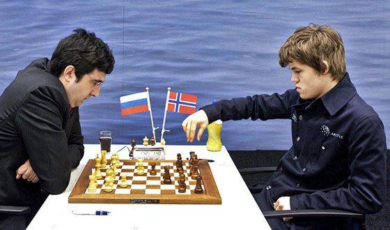 Магнус Карлсен и Владимир Крамник