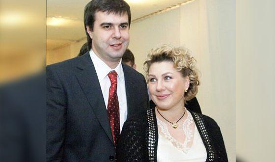 Ева Польна с отцом младшей дочери Сергеем Пильгуном