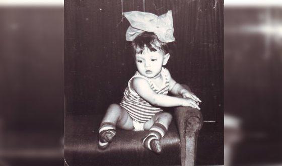 Алена Коломина в детстве
