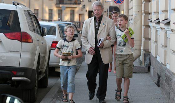 Иван Краско с сыновьми Иваном и Фёдором