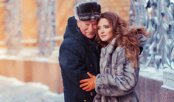 Иван Краско и его молодая жена Наталья Шевель