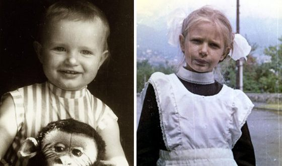 Эвелина Блёданс в детстве