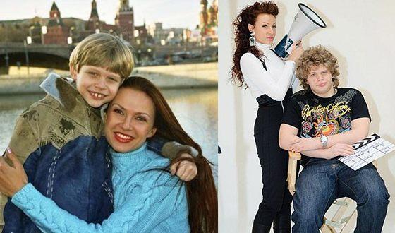 Эвелина Блёданс со старшим сыном Николаем