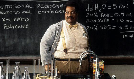 Эдди Мерфи в картине «Чокнутый профессор»