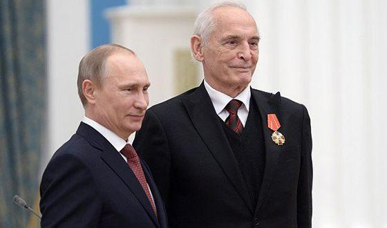 Народный артист РСФСР и СССР Василий Семенович Лановой и президент РФ Владимир Путин