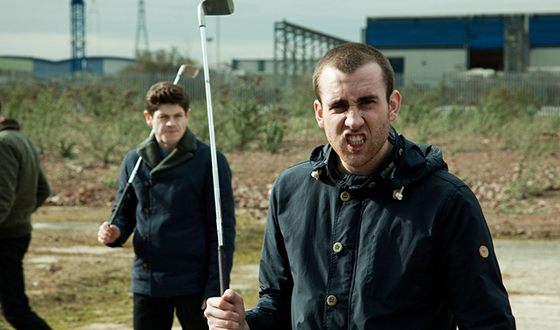 МэттьюЛьюис на съемках фильма «Пустошь»