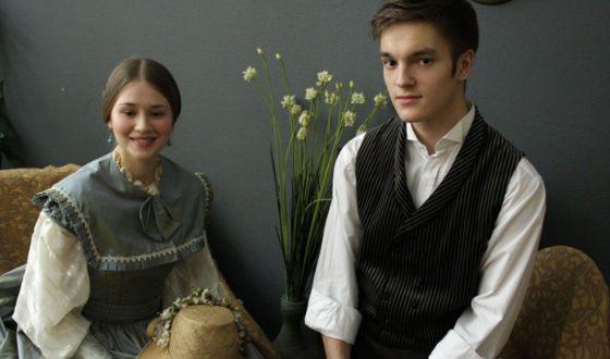Никита Волков на съемках фильма «Две женщины»