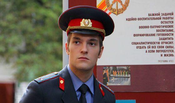 Никита Волков на съемках сериала «Вокально-криминальный ансамбль»