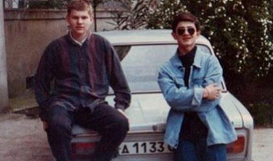 Михаил Галустян (справа) с другом