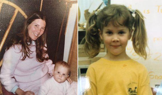 Эми Шумер в детстве с мамой