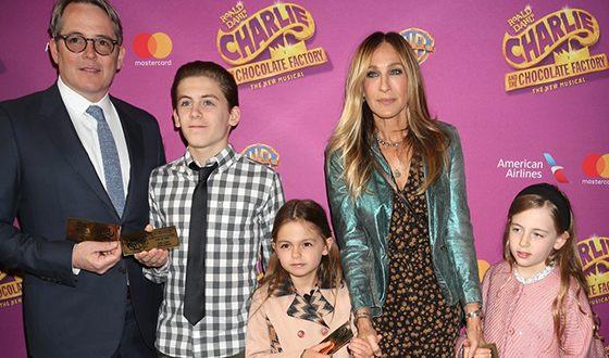 Сара Джессика Паркер с мужем и детьми