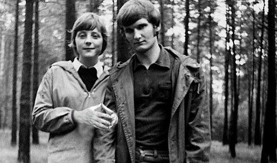 Ангела Меркель и её первый муж Ульрих Меркель