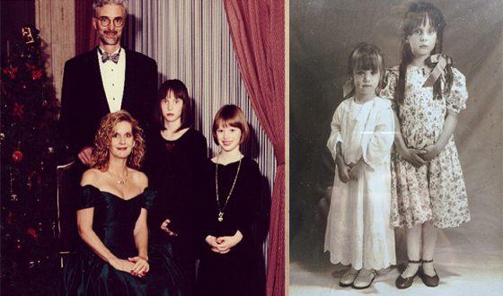 Маккензи Дэвис в детстве с семьей