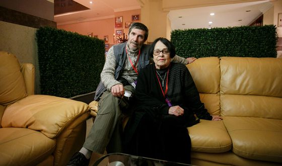 Кира Муратова с мужем Евгением Голубенко