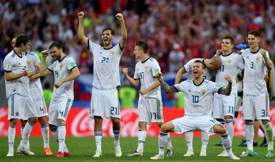 Фото с матча Россия – Испания
