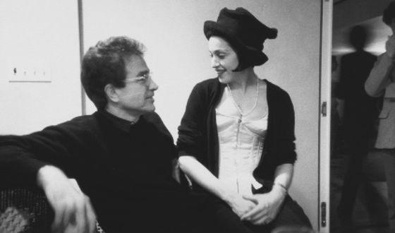 На фото: Мадонна и Уоррен Битти (1990)