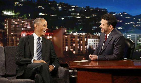 Джимми Киммел и Барак Обама