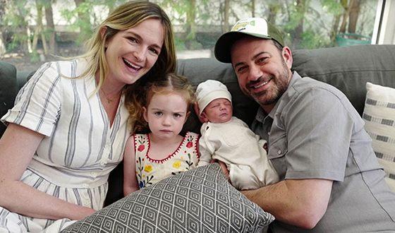 Джимми Киммел с женой и детьми