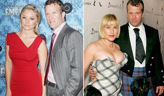 Томас Джейн с экс-женами: с Аишей Хауэр и Патрицией Аркетт (фото справа)