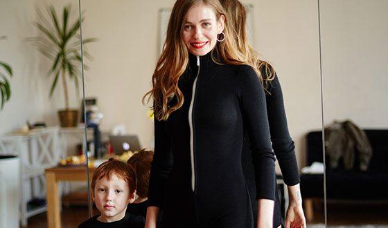 Певица Луна и ее сын Георгий