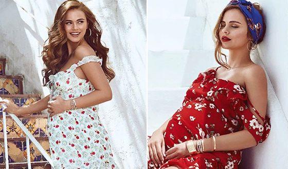 Ксения Дели несмотря на беременность продолжала сниматься для модных журналов