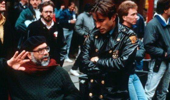 Фрэнсис Форд Коппола и Энди Гарсиа на съемках «Крестного отца»