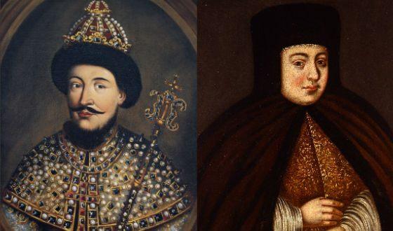 Родители Петра Первого: Алексей Михайлович Романов и Наталья Кирилловна Нарышкина