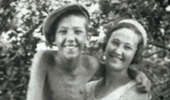 Маленький Юрий Никулин с мамой