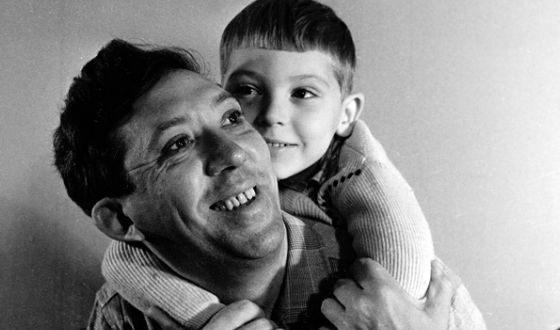 Юрий Никулин с сыном Максимом (1962 год)