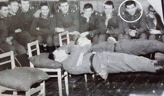 Михаил Саакашвили во время службы в армии