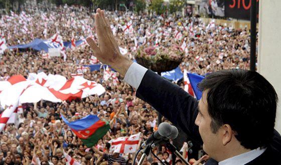 Михаил Саакашвили во время «Революции роз»