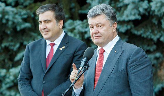 Михаил Саакашвили и Пётр Порошенко