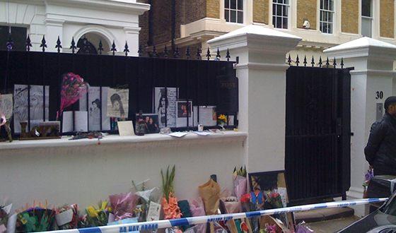 Дом Эми Уайнхаус, в котором её наши мертвой 23 июля 2011 года