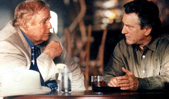 Роберт Де Ниро и Марлон Брандо в боевике «Медвежатник»